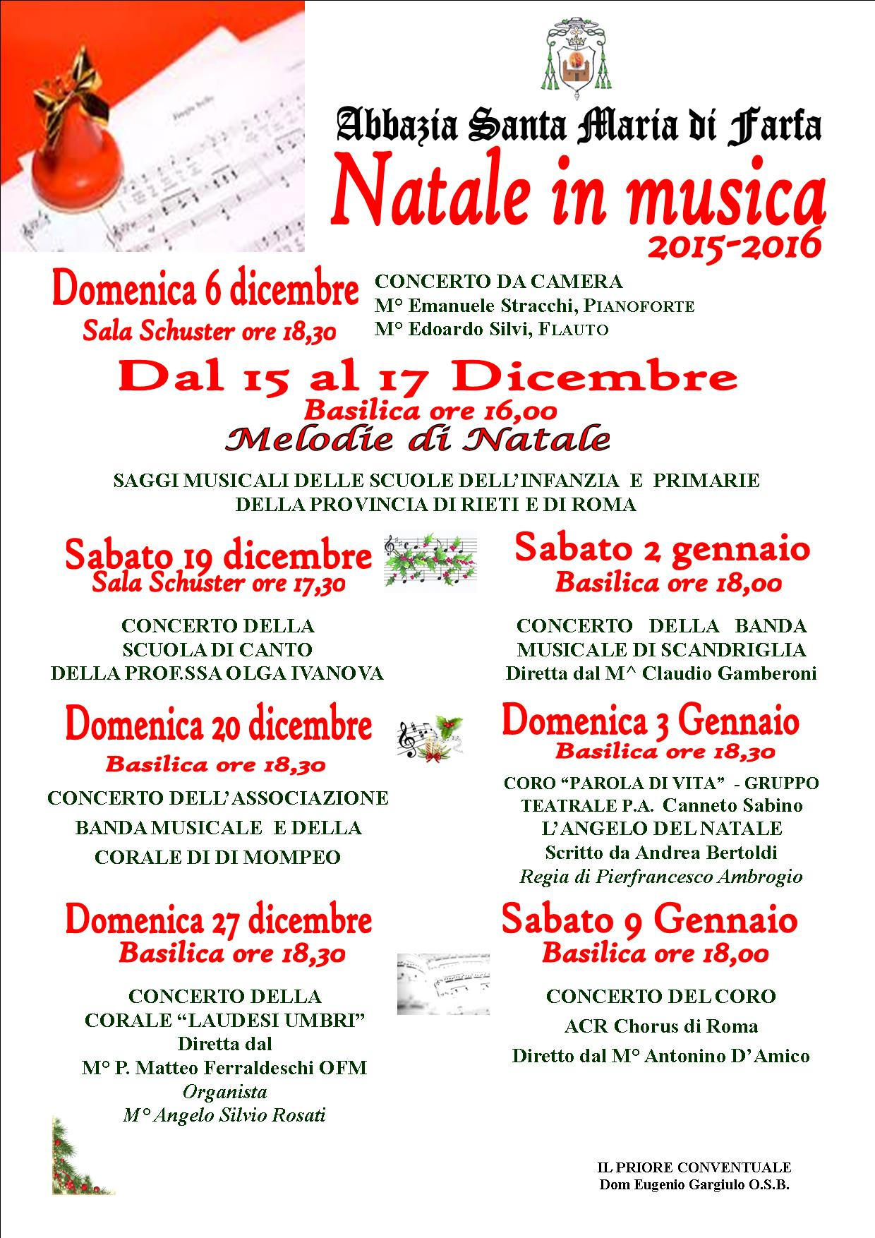 Natale in  musica 2015
